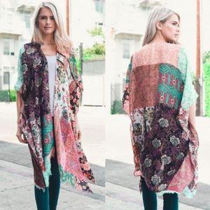 Boho Spring Kimono- MINT